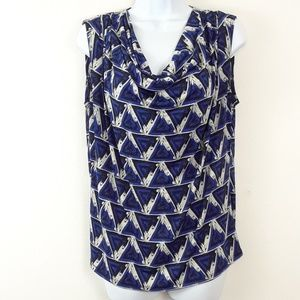 JENNIE & MARK IS L DROOPED NECK PRINT TOP